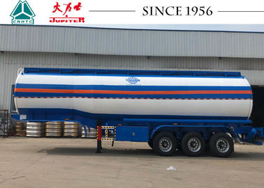 42000 Liters Road Fuel Tanker Trailer High Durability With Airbag Suspension