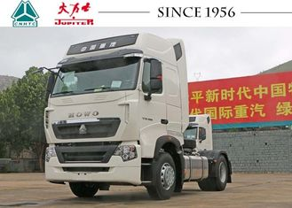 HOWO T7 6 Wheeler Truck , 4x2 Prime Mover With Perfect Suspension Systems