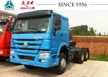 Longer Lifespan HOWO Tractor Truck 420 Hp Euro II Engine RHD For Road Transport