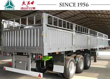 Durable 13 Meter Drop Side Dump Trailer 40 Tons Payload With Impact Resistance