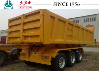 27 CBM 3 Axles Heavy Duty Tipper Trailer For Kenya Container Transport