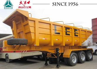 3 Axle End Tipper Trailer 40 Tons Payload For Kenya Construction Transport