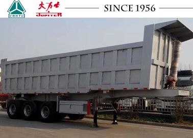 60 Tons Heavy Duty Tipper Trailer Lage Safety Factor With Hvya Lifting